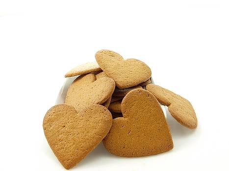 Heart shaped gingerbread by Arve Bettum