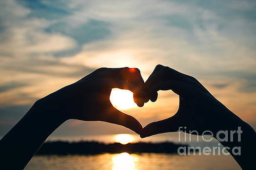 Heart Shaped Sunset by Sharon Dominick