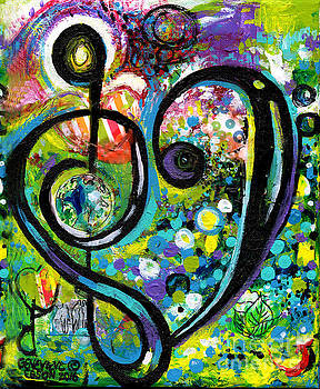 Genevieve Esson - Heart Treble Clef With Polka Dots