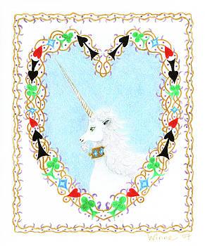 Heart with Unicorn by Lise Winne