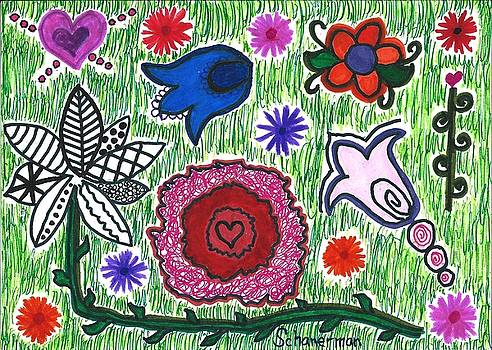 Hearts And Flowers 2.14.16 by Susan Schanerman