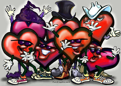 Hearts Party by Kevin Middleton