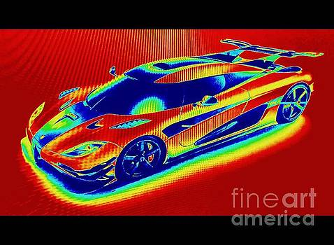 Heat Map Hottest Cars Koenigsegg One by Richard W Linford
