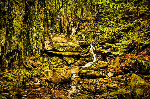 Heaven Waterfall Groton NH by Justin Wheeler