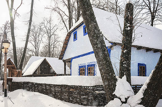 Heavy Snow in a Romanian Village by Daniela Constantinescu