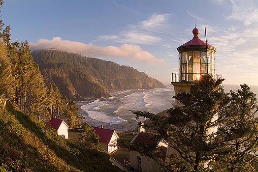 Heceta Head Lighthouse by David Rigg