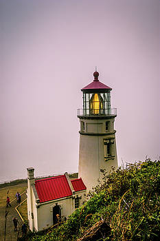 Heceta Head Lighthouse in the fog by Bryan Carter