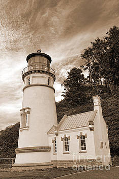 Heceta Head Sepia Light by Moore Northwest Images