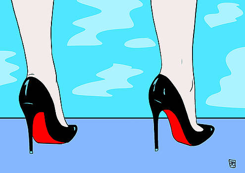 Heels By The Pool by Giuseppe Cristiano