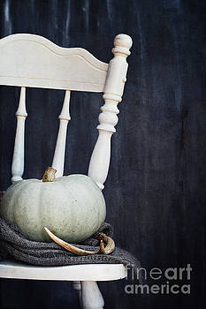 Heirloom Pumpkin and Old Country Chair by Stephanie Frey