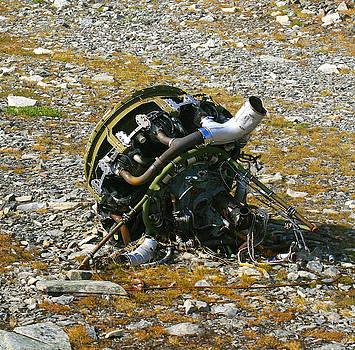 Helicopter Engine Wreckage by Wyatt Rivard