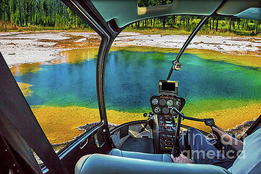 Helicopter in Yellowstone by Benny Marty