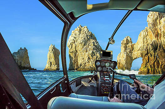 Helicopter on Cabo San Lucas by Benny Marty