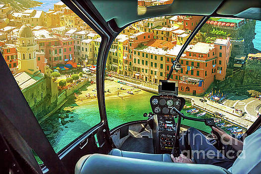 Helicopter on Vernazza by Benny Marty