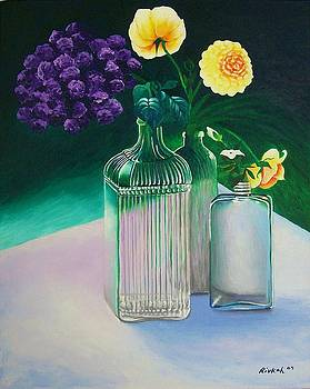 Heliotrope and Yellow Roses by Rivkah Singh