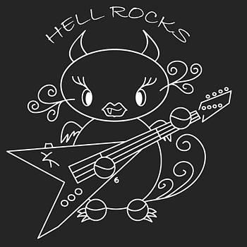 Pedro Cardona Llambias - Hell Ok Katy - The lovely she-devil cartoon with longest eyelashes - Hell rocks