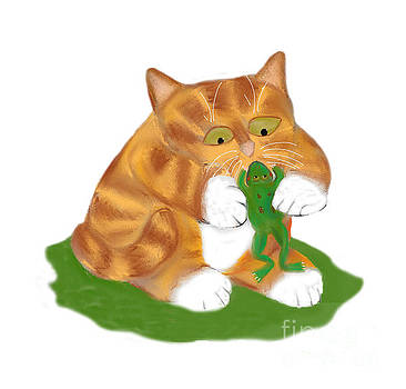 Hello Frog says Tiger Kitten by Ellen Miffitt