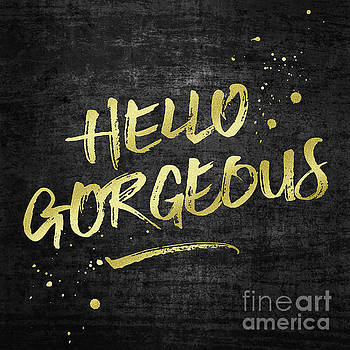 Beverly Claire Kaiya - Hello Gorgeous Gold Glitter Rough Black Grunge