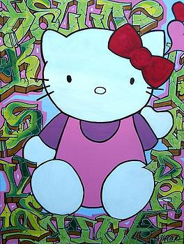 Hello Kitty Graffiti by M Roboto