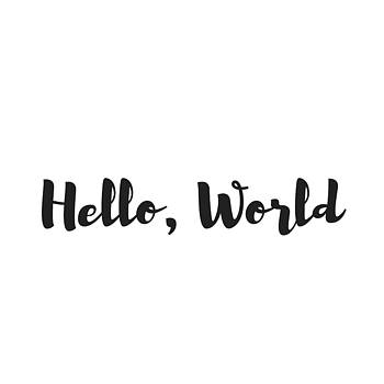 Hello World by Rosemary Nagorner