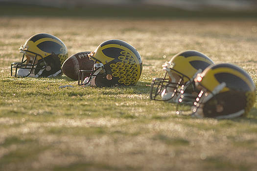 Helmets in Golden Dawn Sunlight by Michigan Helmet