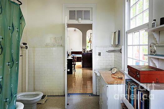 Hemingways' Cuba House Bathroom No. 9 by Craig J Satterlee
