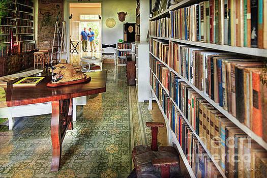 Hemingways' Cuba House Library No.8 by Craig J Satterlee