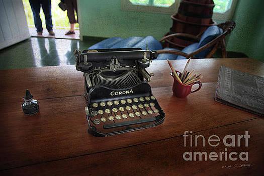 Hemingways' Cuba Typewriter No. 6 by Craig J Satterlee
