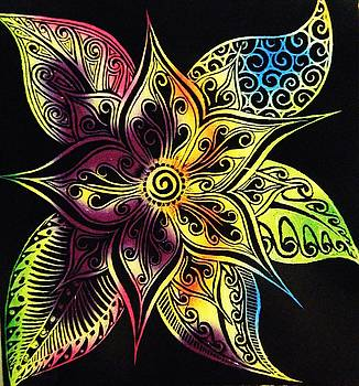 Henna Flower by  Rosanna Hardin