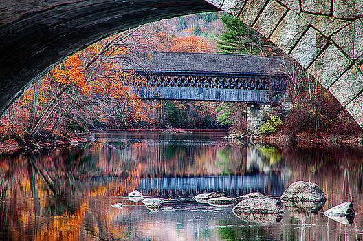 Henniker covered bridge late autumn by Jeff Folger