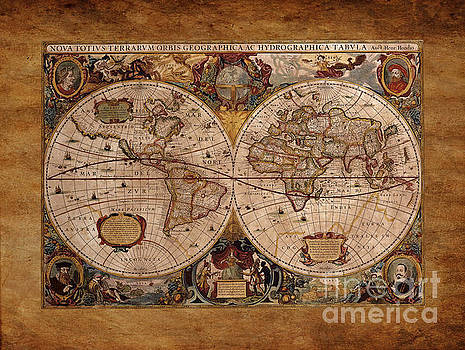 Henry Hondius Seventeenth Century World Map by Skye Ryan-Evans