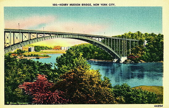 Henry Hudson Bridge Postcard by Cole Thompson