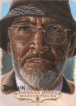 Henry Jones Sr. Sketch Card by Daniel Bergren