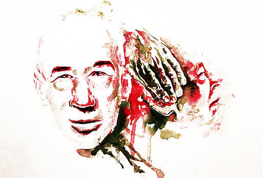 Henry Miller Portrait  by Alexandra-Emily Kokova