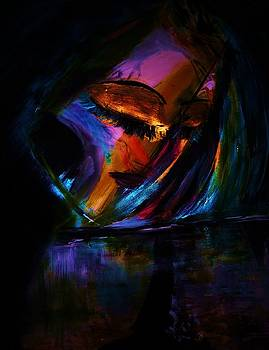 Her face throws out light. by Nalini  Bhat