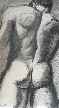 Heracles - Male Nude by Carmen Tyrrell