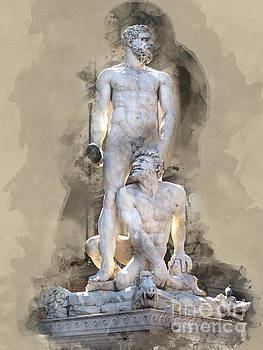 Hercules and Caccus by Barbara Dudzinska