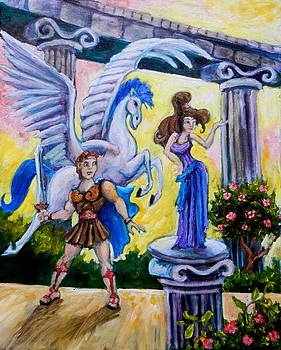 Hercules Pegasus and Meg by Sebastian Pierre