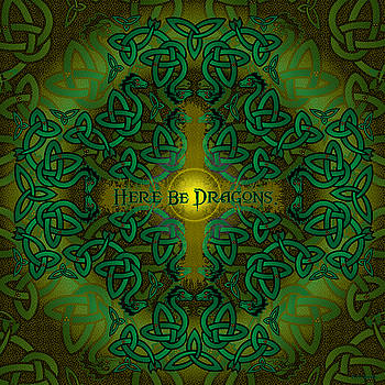 Here Be Dragons by Celtic Artist Angela Dawn MacKay