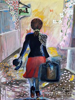 Here I come or Ciao by Geraldine Liquidano