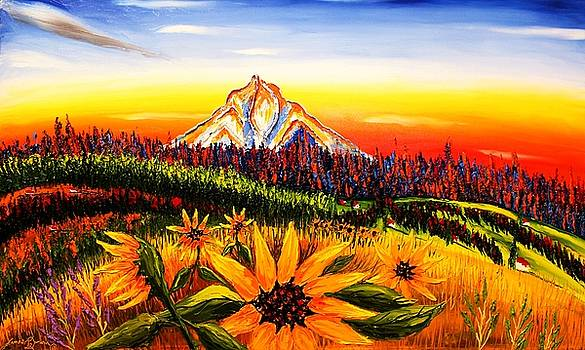 Here is a new 30x50x2.75 extra wide Gallery wrapped commissioned oil painting titled Autumn Colors O by Portland Art Creations