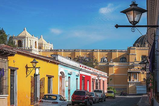 heritage Street in Antigua, Guatemala by Daniela Constantinescu