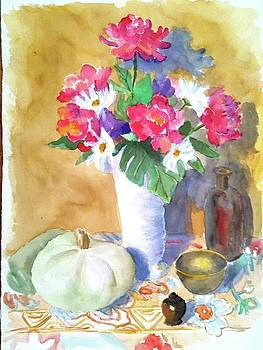 Hermitage and Flowers by Thom Duffy