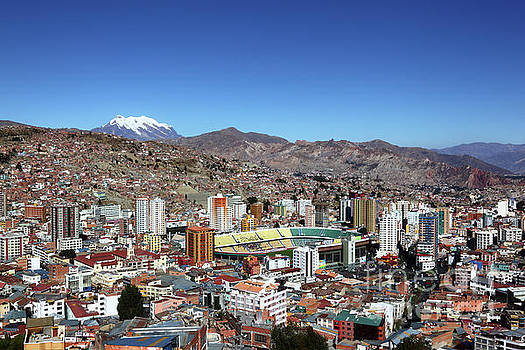 Hernando Siles Stadium and Miraflores La Paz Bolivia by James Brunker
