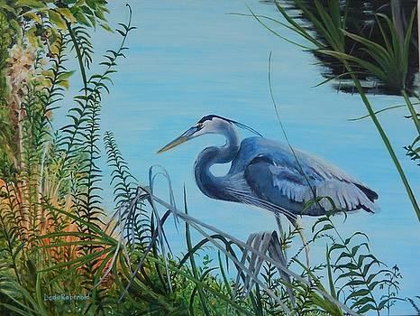 Heron Hideaway by Leda Rabenold