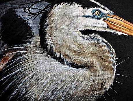 Heron by Katie McConnachie