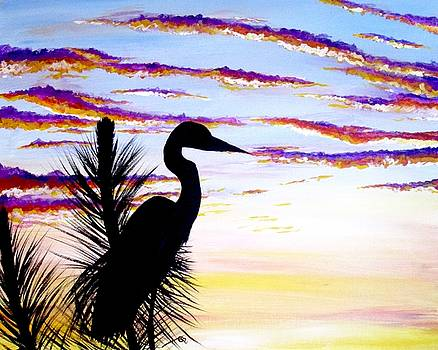 Heron Sunset by Carol Blackhurst