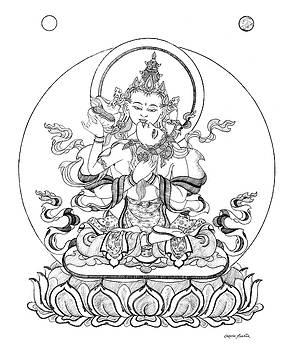 Heruka-Vajrasattva -Buddha of Purification by Carmen Mensink