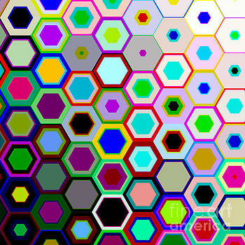 Hexagons Tote Bag Design by Tin Tran