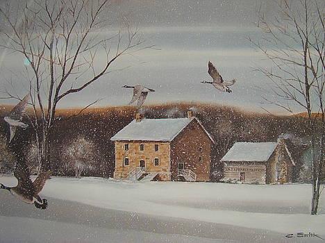 Hezakeiah Alexander House Winter by Charles Roy Smith